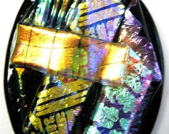 3D Dichroic Fused Glass Pendant#9