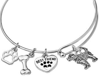Goldendoodle Charm Bracelet, Labradoodle Charm Bracelet, Labradoodle Jewelry, Goldendoodle Jewelry, Labradoodle Gift, Goldendoodle Gift