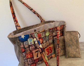 Handmade magnetic clasp, Tote, Tote, tote bag hands/fashion/women/accessory/vintage/made in france/unique/customization