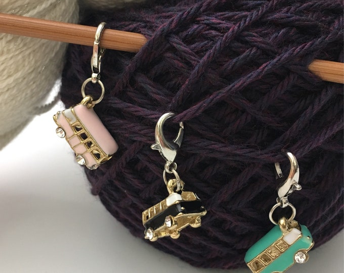 Small Westfalia position markers - markers - stitch markers for knitting and crochet - mesh guards