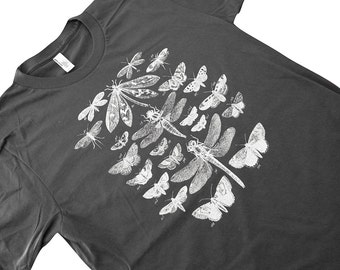 Insects T Shirt - Winged Insect Collection Mens UNISEX American Apparel Shirt - Available in sizes S, M, L, XL