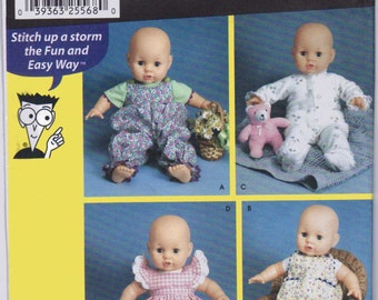 Baby Doll Clothes Pattern Simplicity 7071