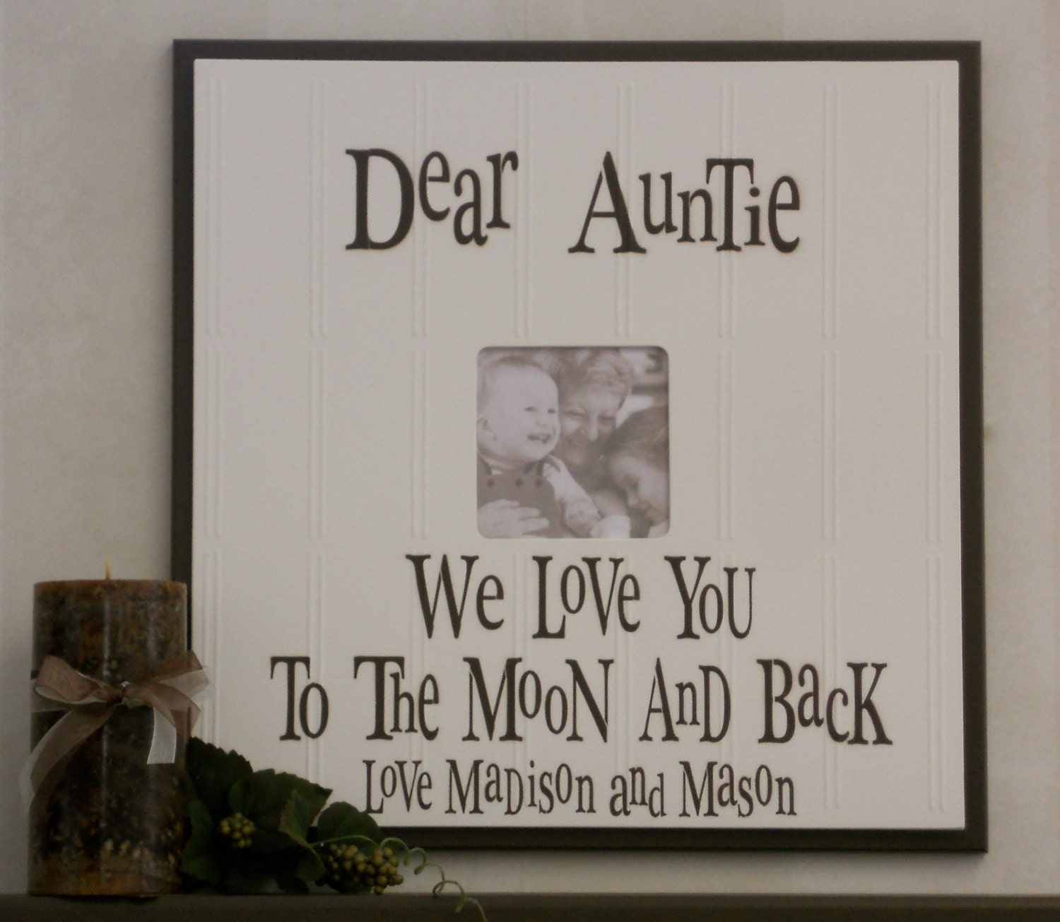 Aunt and uncle gift picture frame customized auntie wood photo 5600 jeuxipadfo Choice Image