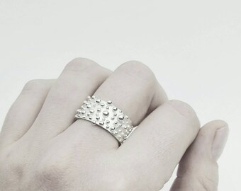 BUBBLES STATEMENT RING | Sterling Silver