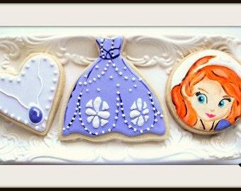 Custom Decorated Sophia The First Sugar Cookies