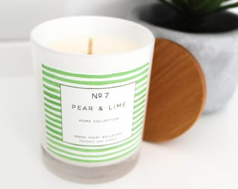 Coconut Wax Candle - No7 Pear & Lime