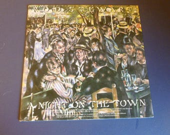 Rod Stewart A Night On the Town Vinyl Record LP BS 2938 Warner Bros. Records 1976