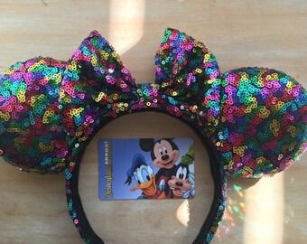 Rainbow Sequins Ears