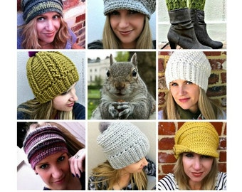 Crochet Hat Patterns for Women - Multi Purchase Discount Coupon Codes - Baby, Kids, Teens, Ladies - Make your own pack