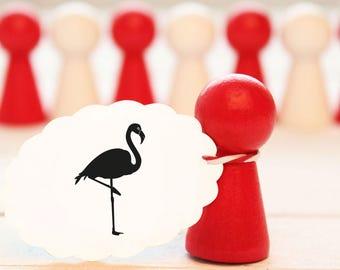 Motif Stamp Flamingo