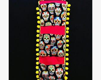 La Jefita Original: Hand Made Day of the Dead Organizer (Multicolor Sugar Skulls)