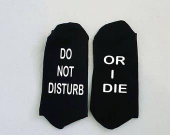 Men's Gaming Socks, 'Do not disturb or I die' socks for men, Valentine Gift for Men, Men's Funny Socks, Father's Day Gift, Gamer's Gift