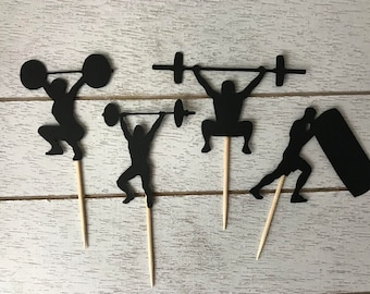 Fitness Cupcake Toppers
