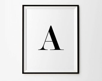 Capital A, Typography Poster, Capitals, Wall Words, Typography Printable, Typography Download, Typography Digital Print