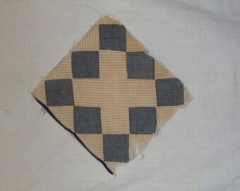 Vintage 1870's quilt square