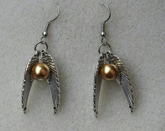 Harry Potter Inspired Golden Snitch Jewelry Collection [STERLING SILVER]