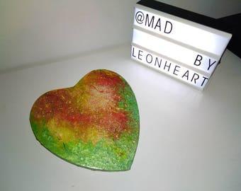 Emerald heart canvas
