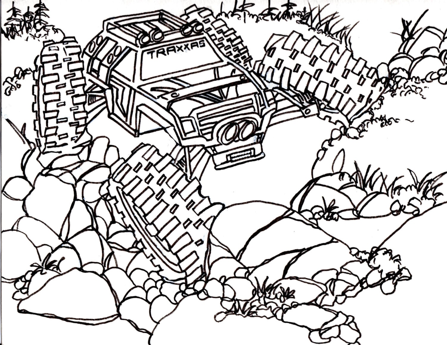 Coloring Pages Of Rc Cars : 5 Traxxas Summit Coloring Pages Drawing Truck 4x4 RC