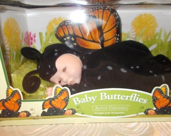 1997 Anne Geddes Doll Baby Butterflies Collection