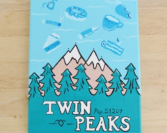 Twin Peaks and the Mysterious Clouds Original Painting