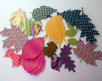 Colored Fancy Cardstock Paper Leaves, Fancy Foliage Cutouts, Leaf Wreaths Materials, Colored Thick Paper Supplies, Cutout Leaves Garland