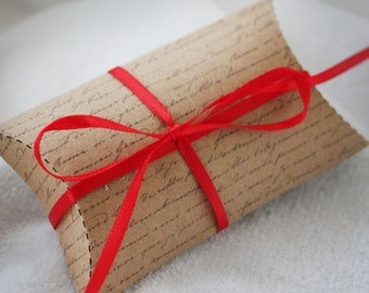 Handwritten Printable Pillow Boxes
