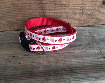Watermelon Slices Dog Collar