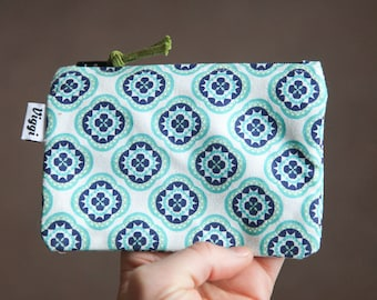 small wallet / cute coin purse / boho change pouch / mini make up bag