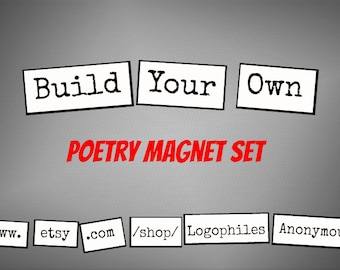 Build-Your-Own Poetry Magnets - Refrigerator Word Quote Magnets