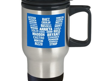 2016 champions cubs travel mug - 16oz champion cubs coffee mug  - gift for cubs fan - flying w cup - cubs world series merch goat curse cup
