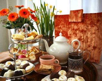 Orange velvet tea cosy