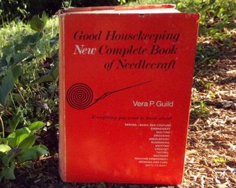 How To Craft Book, Good Housekeeping New Complete Book of Needlecraft Book, Vintage How To Book