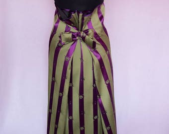 SALE 20%, New Elegant woman party skirt, Original skirt, Long skirt, Maxi skirt, Oversize, Double-sided skirt,  Green-purple skirt