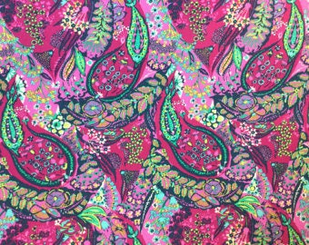 Cotton Amy Butler Sateen Cotton Jolie in Cherry from the Glow Collection 1/2 Yard