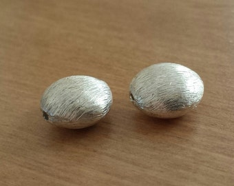 FREE SHIPPING CLEARANCE Sale -  Brushed Sterling Silver Huge Coin Focal Bead - Lot of 2 - Destash