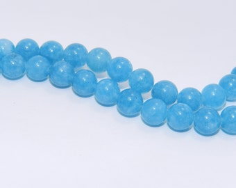Blue Sponge Quartz - Full Strand - 8 mm, Round - BSQ-R-8-DC