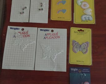 Appliques for Crafting Butterflies and more with Instruction on Back , Wrights and Sew Perfect