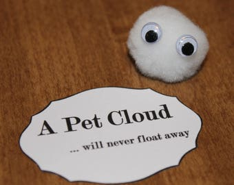 Pet Cloud or Pet Smiley Emoji with tag birthday party favor weird teen silly