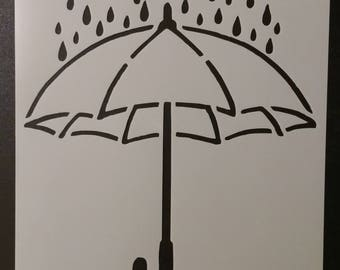 Umbrella Rain Rainy Day Custom Stencil FAST FREE SHIPPING