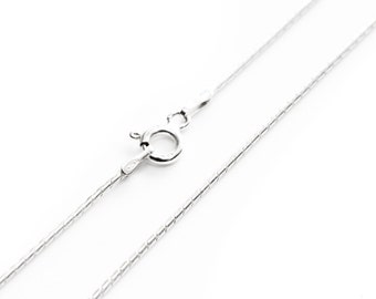 Cardano Chain, Sterling Silver Necklace, Necklace Chain, Pendant Chain, Rigid Chain, Silver Chain, Women's Chain, Replacement Chain, 18 Inch
