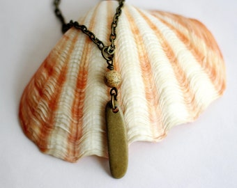 River Rock Necklace Natural Beach Stone Wire Wrapped Pendant Jasper Stone Bead Eco-Friendly Sustainable Jewelry by Hendywood
