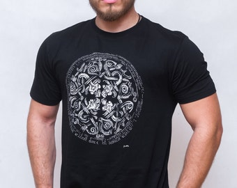 SALE !!! T-shirt with Viking silver brooch design Viking design style t-shirt, 100% cotton, ready for shipping!