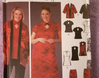 Simplicity 5360, Plus Size Pants, Skirt, Kimono, Tunic, and Top Sewing Pattern