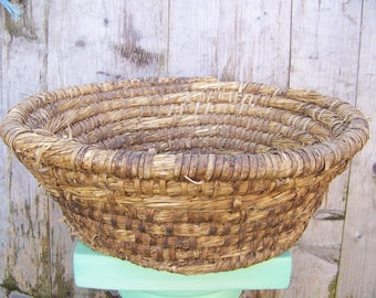 Bread basket Wicker woven hard Banneton Baker French 50's