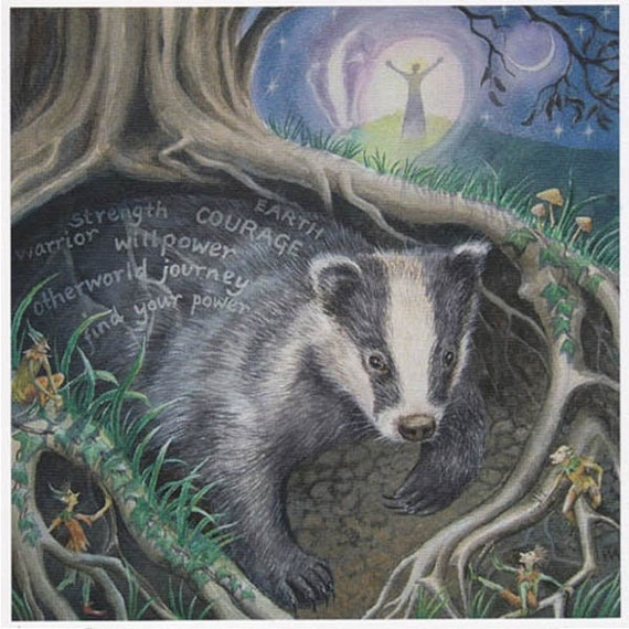 Pagan wiccan greeting card calling badger hare goddess celtic pagan wiccan greeting card calling badger hare goddess celtic blank birthday blank wendy andrew m4hsunfo