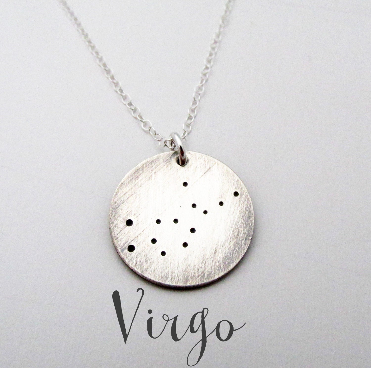 gold virgo necklace birthstone constellation