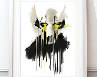 Dripping general grievous - star wars inspired art print