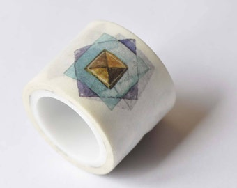 Colorful Geometric Shapes Triangle Pentagon Masking Washi Tape 30mm x 5M Roll No.12624