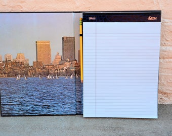 Boston harbor notepad cover legal pad pad-folio portfolio case legal pad holder for legal pad book cover reusable notepad notepads portfolio