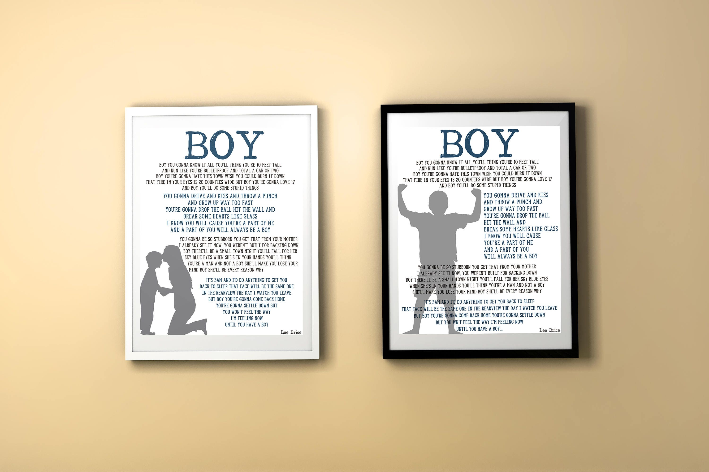 Boy Lee Brice Boy\'s Room Decor Song for Son